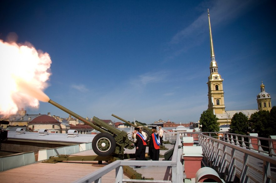 Концерт духовых оркестров в Петропавловской крепости